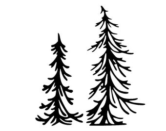 Water Resistant 1 Adventure Awaits Forest Evergreen Trees PNW vinyl Decal-Watercolor Design Phone Case Decal Sticker Laptop
