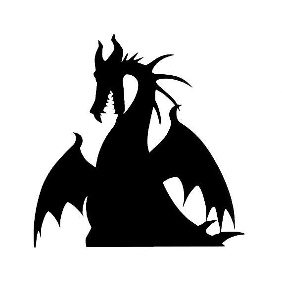 Disney Maleficent Dragon Vinyl Decal Disney Decor Dragon Sticker Disney Villian Dragon Car Decal Halloween Sticker