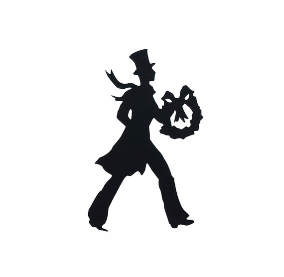 VICTORIAN MAN Vinyl Decal  \u2022  Christmas Sticker  \u2022  Victorian Man with Wreath   \u2022  Christmas Decor  \u2022  Victorian Christmas