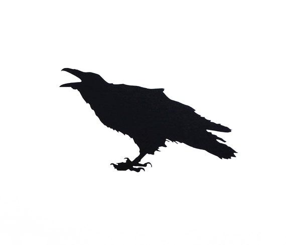 Raven Silhouette Die Cut Vinyl Decal Sticker Decals City