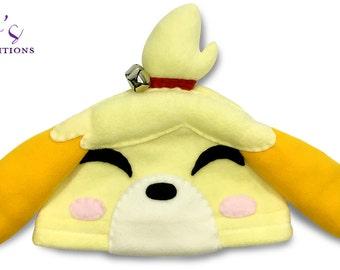 Animal Crossing - Isabelle Hat / Fleece Hat / Winter Hat / Animal Crossing Hat / Video Game Characters
