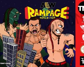 "AEW Rampage - Brian Cage Version 11"" x 17"" Art Print"