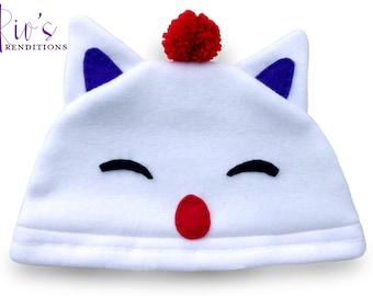 Final Fantasy - Moogle Hat / Fleece Hat / Winter Hat / Final Fantasy Hat / Moogle Hat / Video Game Characters