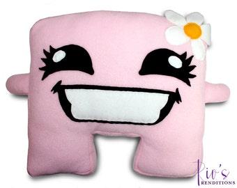 Meat Boy - Bandage Girl Plush / Fleece Plush Toy / Fleece Stuffed Toy / Video Game Characters