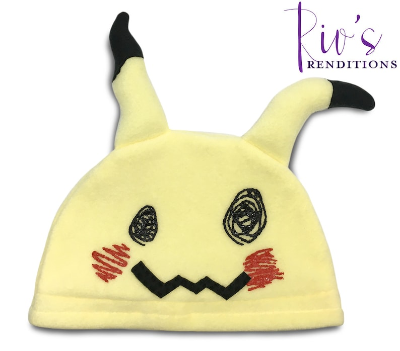 643863268e1 Pokemon Fleece Hat Mimikyu Pokemon Hat Spookachu Super