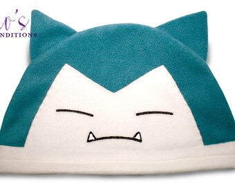 Pokemon Snorlax Hat / Fleece Hat / Winter Hat / Pokemon Hat / Pokemon Fleece Hat / Video Game Characters