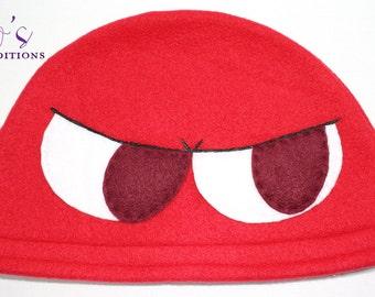 Puyo Puyo - Red Hat / Fleece Hat / Winter Hat / Puyo Hat / Video Game Characters