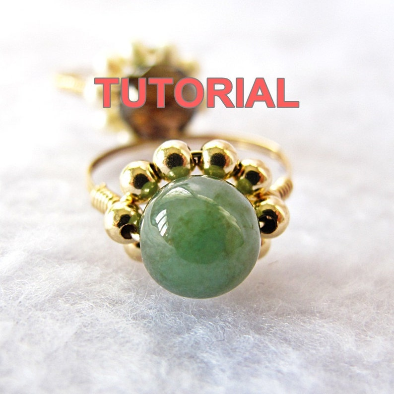 WIRE JEWELRY TUTORIAL-Wire Wrap Sparkly Daisy Ring image 1