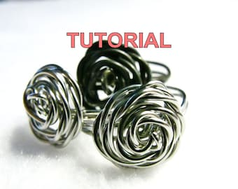 WIRE JEWELRY TUTORIAL - Adjustable Wire Wrapped Rose Ring