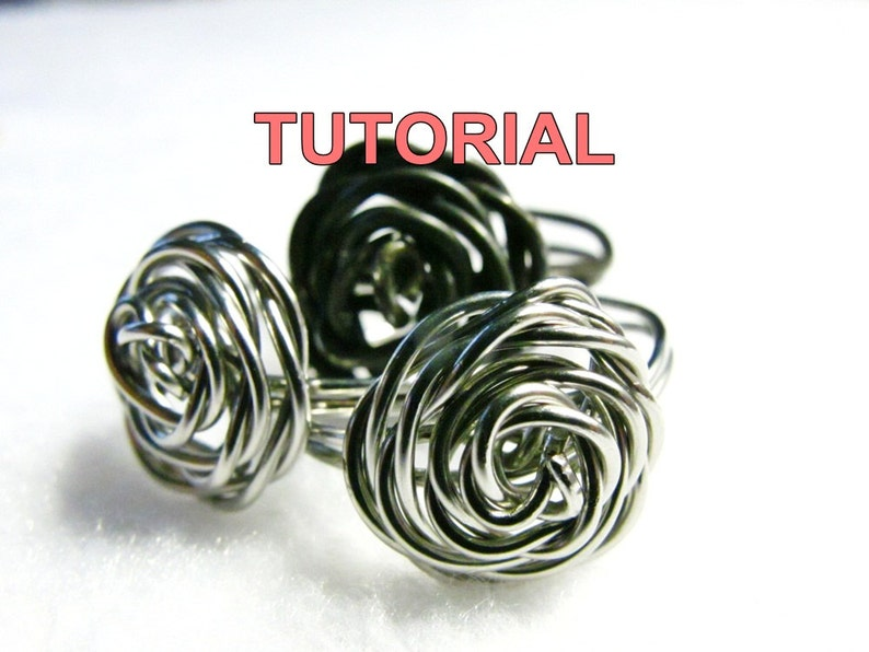 WIRE JEWELRY TUTORIAL  Adjustable Wire Wrapped Rose Ring image 1