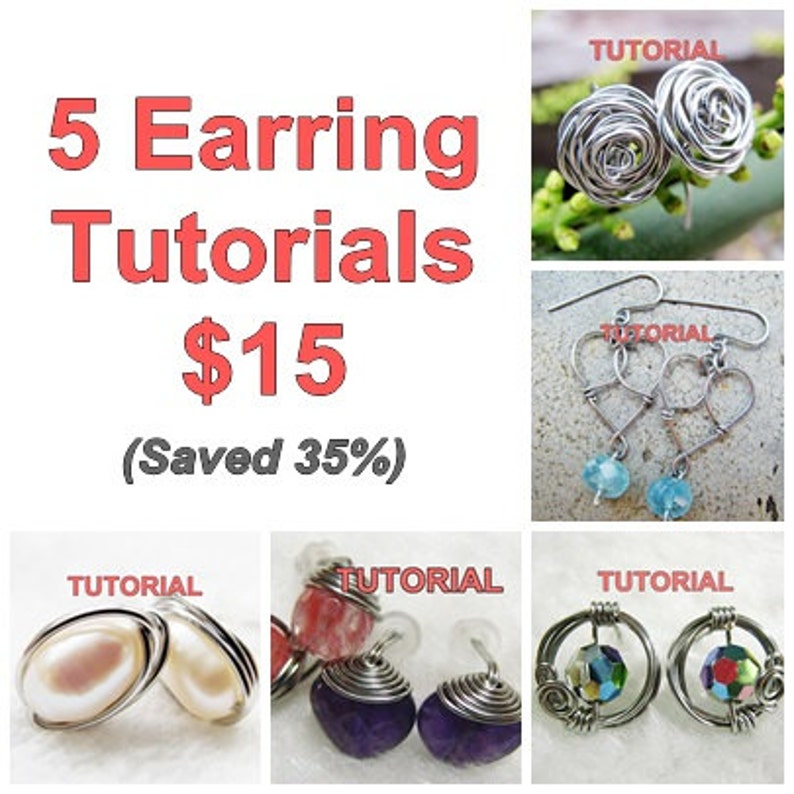 WIRE JEWELRY TUTORIAL  Earring Tutorials 5 Package image 1
