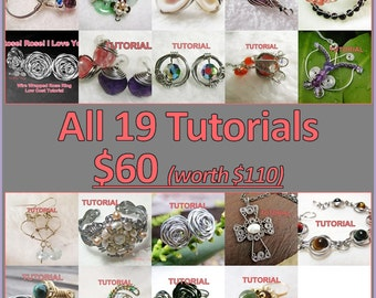 WIRE JEWELRY TUTORIAL - All 19 Tutorials for US60.
