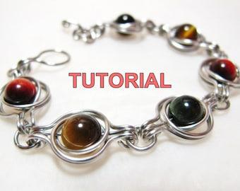 WIRE JEWELRY Tutorial - Twice Around The World (TAW) Wire Wrapped Bracelet