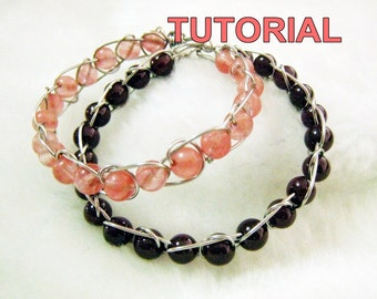 WIRE JEWELRY TUTORIAL- Wire Wrap Infinity Bracelet.
