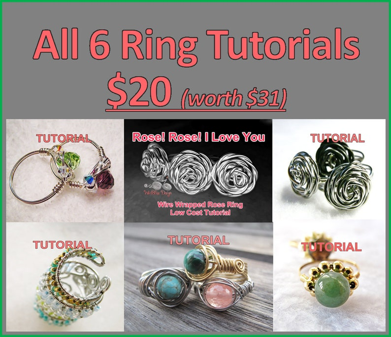 WIRE JEWELRY TUTORIAL  Ring Tutorials 6 Package image 1