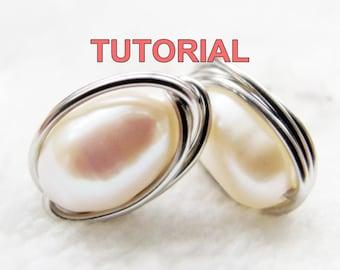 WIRE JEWELRY TUTORIAL- Wire Wrap Stud Earrings, Simple Yet Elegant
