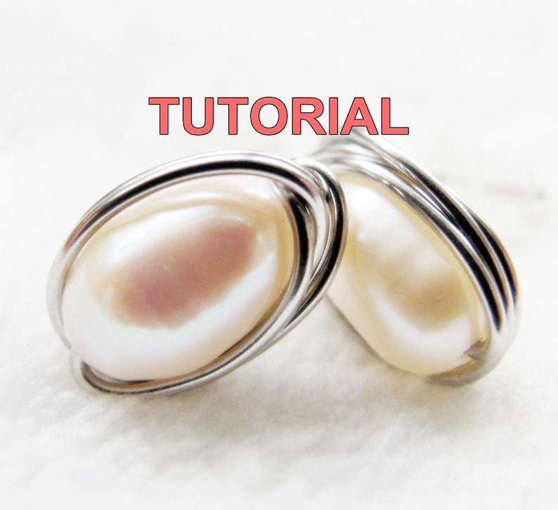 WIRE JEWELRY TUTORIAL Wire Wrap Stud Earrings Simple Yet image 0