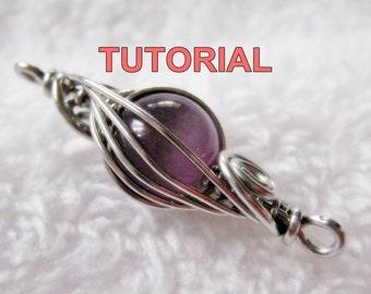 WIRE JEWELRY Tutorial - Caged Herringbone Woven Bead with FREE Two Tone Herringbone Woven Ring