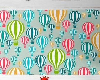 Blue Nursery rug, Kids rug, Hot Air balloon rug, Baby Shower Gift Boy, children rug, kids carpet, kid decor, nursery decor, gift for newborn