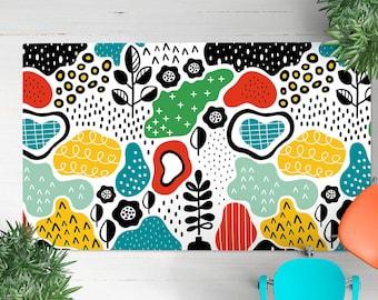 Modern rug, colorful rug, designer rug,  bedroom Rug, contemporary rug, modern carpet, living room rug, abstract rug, new home gift