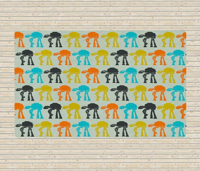 Star Wars Rug Star Wars carpet Star wars decor Atats rug ATats Multicolor