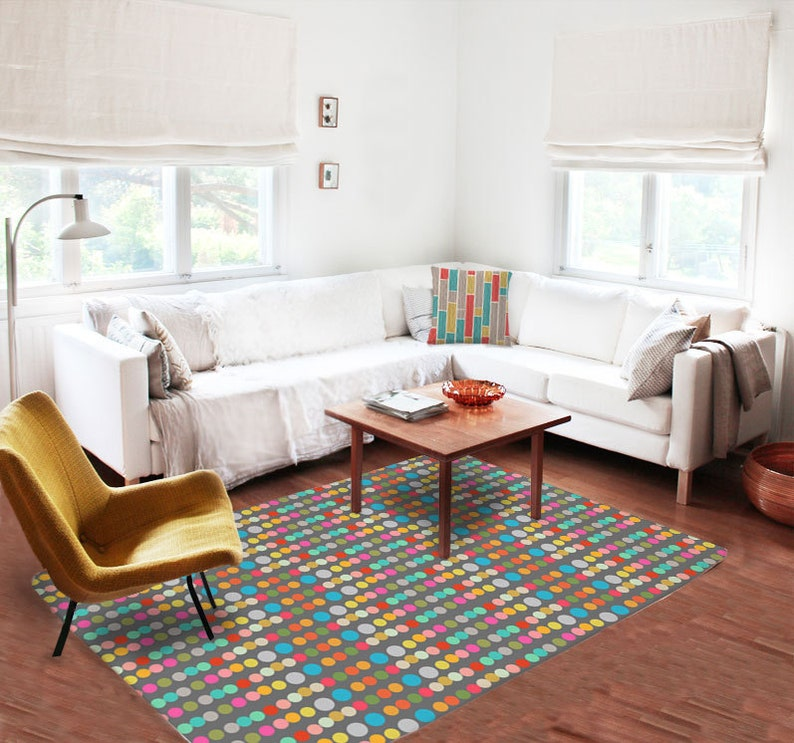 Dots Rugs, Colorful Rugs, Nursery Room Rug, Living Room Rugs, 5x8 Rugs,  Modern Rugs, Carpet, Colorful Rugs, Contemporary Rugs, Children Rug