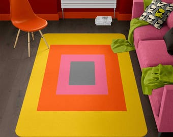 Modern rug, geometric rug, designer rug, Colorful Rug, contemporary rug, bedroom rug, cheap rugs, cheap carpet, living room rug
