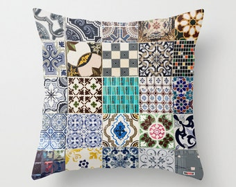 Moroccan pillow cover, Morocco Cushion, Modern African Colorful Pillow, For african decor lovers, gift for mom, tiles pattern, for her