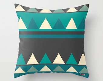Geometric pillow cover - Decorative pillow - Triangles pillow - Modern accent pillows for sofa - pillow case - couch pillow