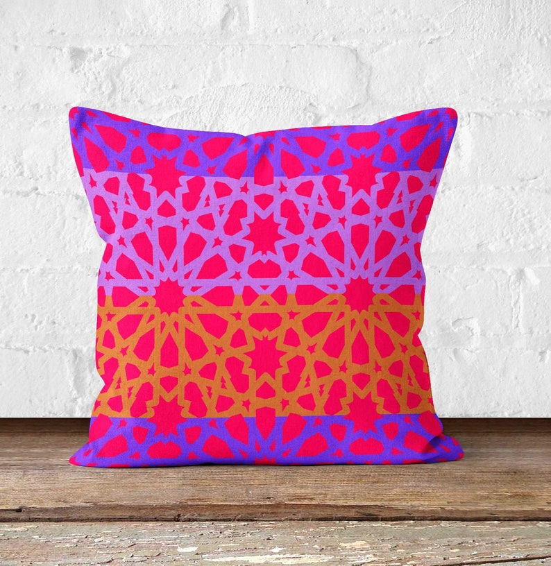 Moroccan pillow cover Morocco Cushion Tribal African image 0