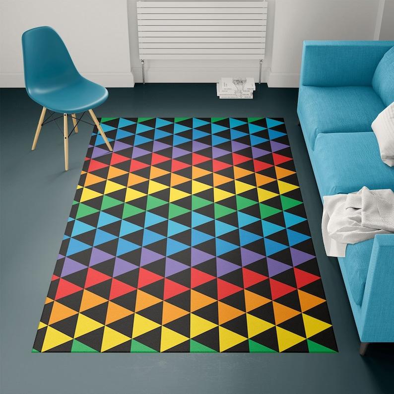 Contemporary rug Modern rug geometric rug designer rug image 0