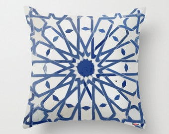 Blue and white pillow cover, Moroccan Cushion cover, from Morocco , African style, tribal decor, boho home decor, gifts for travelers
