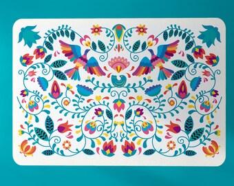 Boho rug, Modern rug, mexican rug, mexico rug, floral rug, floral carpet, mexican carpet, Colorful Rug,  living room rug, boho decor