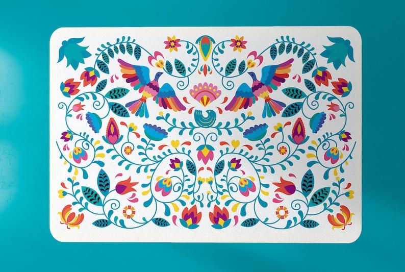Boho rug Modern rug mexican rug mexico rug floral rug image 0
