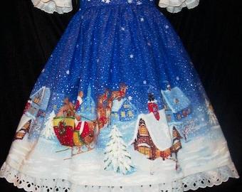 VHTF Daisy Kingdom TWAS the Night CHRISTMAS Jumper Dress Custom Size