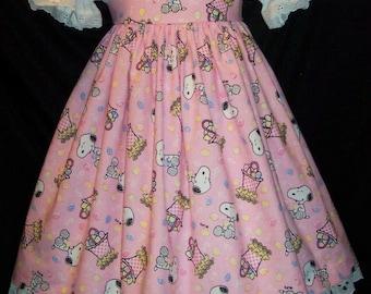 SNOOPY Peanuts Easter Dress DAISY KINGDOM fabric Custom Size