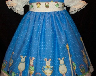 BUNNY Border Dress DAISY KINGDOM fabric Custom Size