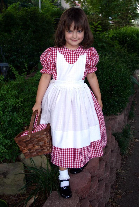 Little RED RIDING HOOD DressCostume Set Custom Child Size