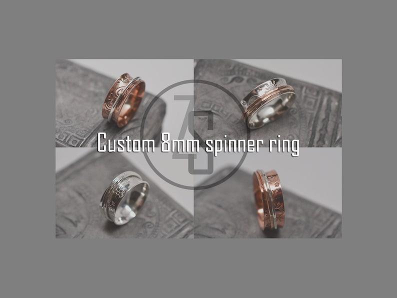 Custom 8mm width spinner ring