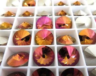 6 Mahogany Swarovski Crystal Rivoli Stone 1122 47ss 10mm