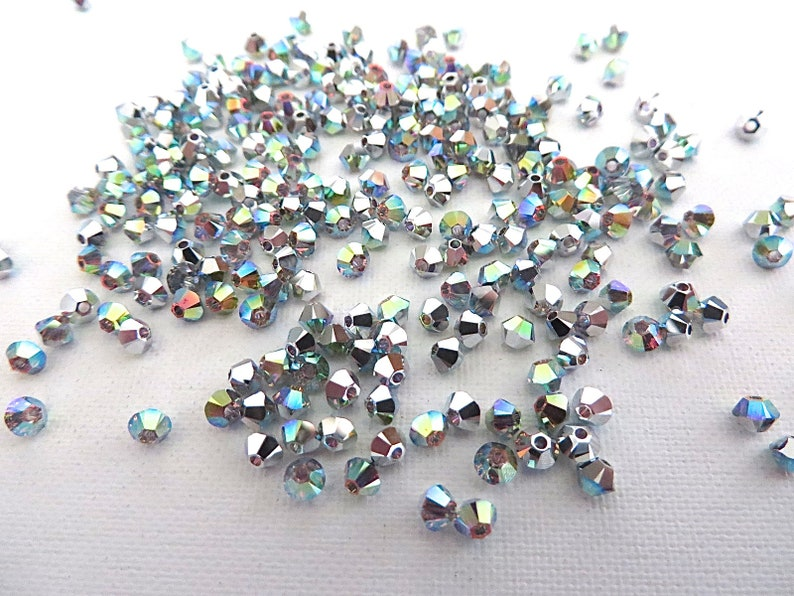 e84764340 48 Crystal AB/CAL Swarovski Crystal Beads Bicone 5328 3mm | Etsy