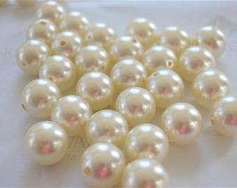 25 Cream Swarovski Crystal Beads Pearls 5810 8mm