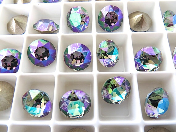 6 Violet 1088 Swarovski Crystal Chaton Stone SS39 Foiled 8MM