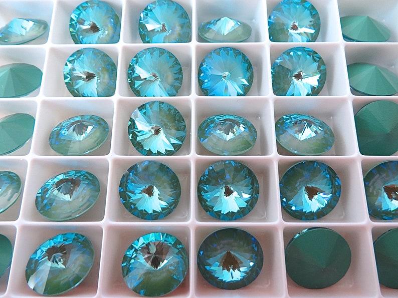 Swarovski #1122 Rivoli Rhinestone Crystal AB Pointed back Pack of 12 CRAFT