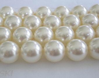 10 Cream Swarovski Crystal Beads Pearls 5810 10mm
