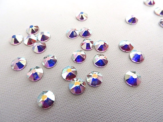 57d358a39b4e 36 Clear Crystal AB Swarovski Flatback Rhinestones 2088 20ss