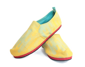 Sz. 5 Gold Seafoam Cactus Canvas/Rubber Lightweight Slip On Shoe