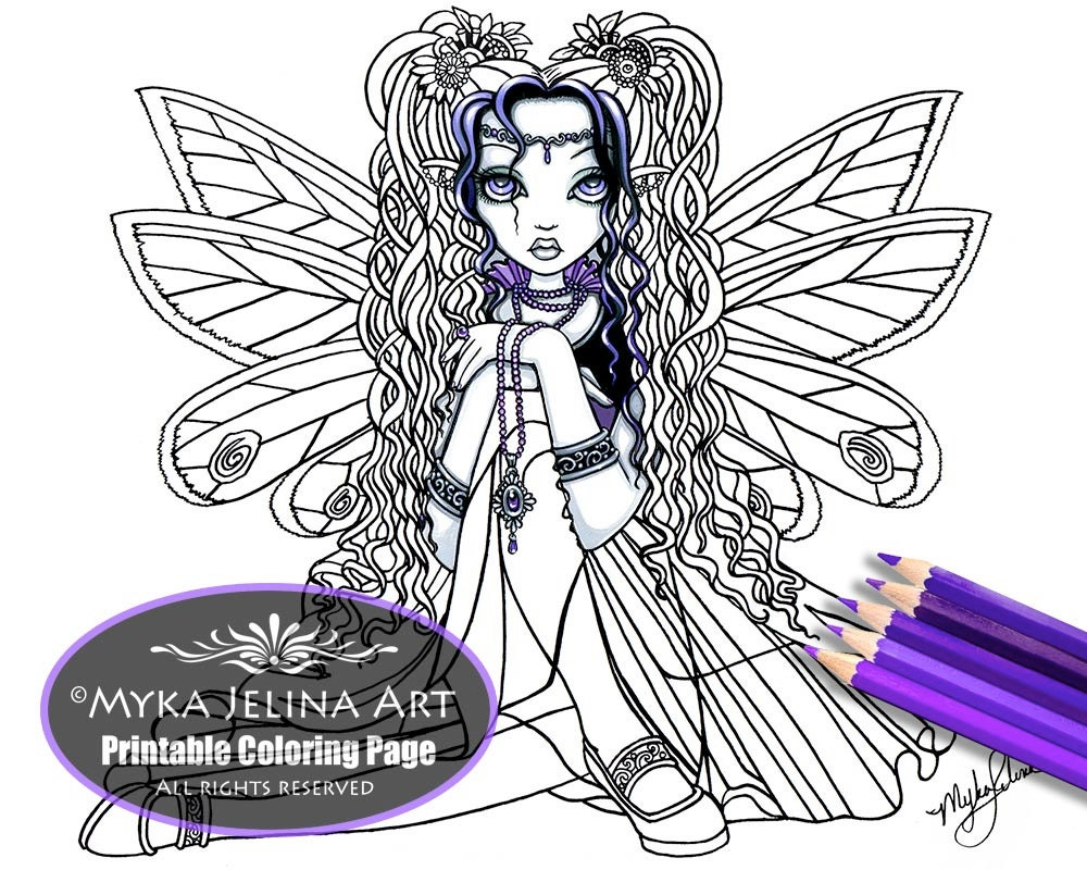 Kiara Butterfly Fairy Digital Download Coloring Page Line Art | Etsy