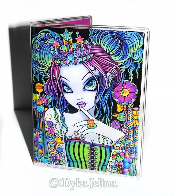 Sweet Vinyle ID Carte De Visite Porte Myka Joel Arc En Ciel Art Candy Cupcake Sucette