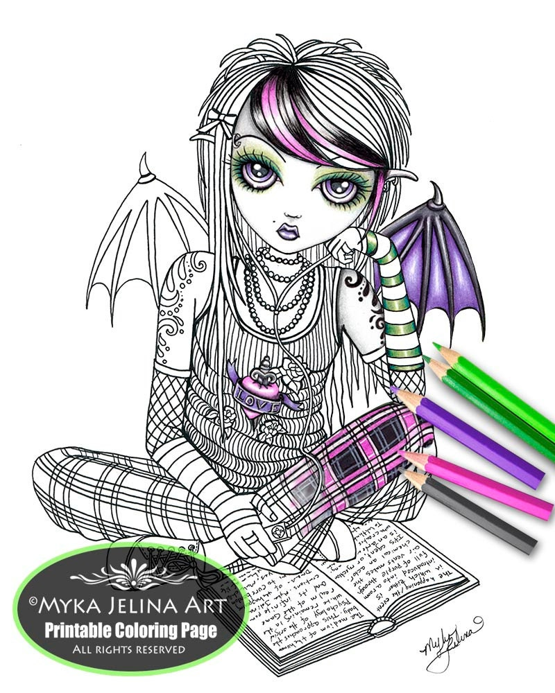 Ally Fairy Digital Download Coloring Page Line Art Myka Jelina | Etsy